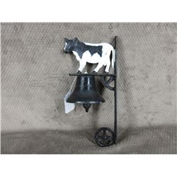 Wall mount outside Dinner Bell with Cow