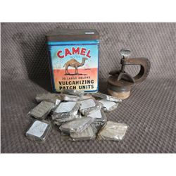 Camel Vulcanizing Patch Units Cardboard Can from 1940's