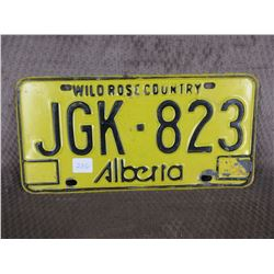 Single Alberta No Year License Plate