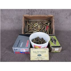 Wood Box of Misc. Ammo, Primers
