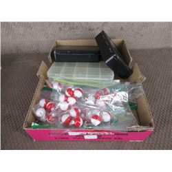 Lot of 100 Small Bobbers & 3 Small Hook Boxes