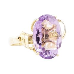 10.00 ctw Amethyst Ring - 14KT Yellow Gold