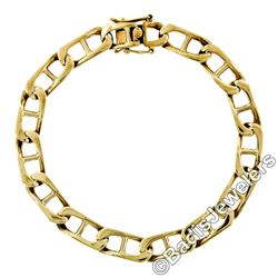 Vintage 14kt Yellow Gold 8.4mm Large Gucci Link Chain Bracelet
