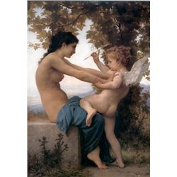 William Bouguereau - A Young Girl Defending Herself Against Eros