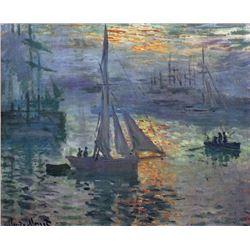 Claude Monet - Sunrise at Sea