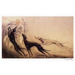 Louis Icart - La Femme & Les Chiens