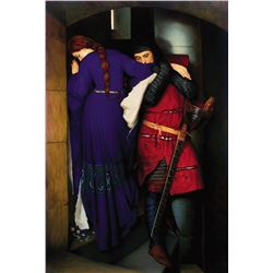 Frederick Burton - Meeting On The Turret Stairs