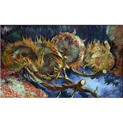 Van Gogh - Four Sunflowes Gone To Seed