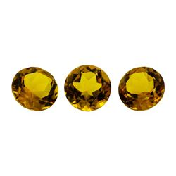 14.36 ctw.Natural Round Cut Citrine Quartz Parcel of Three