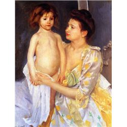 Mary Cassatt - Jules Being Dried  His Mother 1900