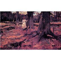 Van Gogh - Girl In White In The Woods
