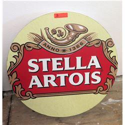 "Stella Artois Round Tabletop, 30"" Diameter"