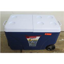 Rubbermaid DURAChill 75 Qt Blue Chest Cooler w/ Wheels
