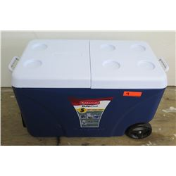 Rubbermaid DURAChill 75 Qt Blue Chest Cooler w/ Wheels