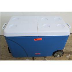 Rubbermaid DURAChill Blue Chest Cooler w/ Wheels