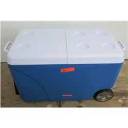Rubbermaid DURAChill Blue Chest Cooler w/ Wheels