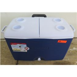 Rubbermaid Microban 60 Qt Blue Chest Cooler w/ Wheels