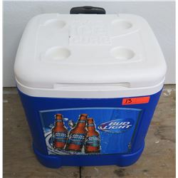 Igloo Ice Cube Square Wheeled Bud Light Chest Cooler