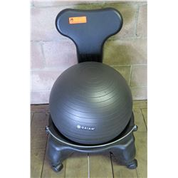 Gaiam Classic Balance Yoga Ball Premium Ergonomic Exercise Chair on Wheels