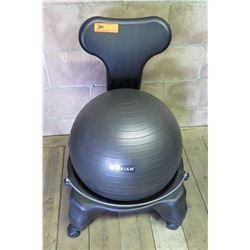 "Gaiam Classic Balance Yoga Ball Premium Ergonomic Chair with Wheels (Back 30""H)"