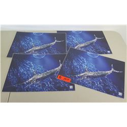 Qty 4 Gyotaku by Naoki Table Placemats