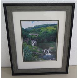 "Framed Gary Reed Art, Seven Pools 13""x16"""