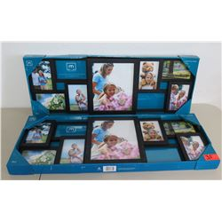 Qty 2 Melannco 9-Section Collage Frames, New in Box