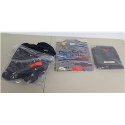 New XL David Karey Originals Truck Shirt, Red Kab Work Shirt & L Outer Banks in Bags
