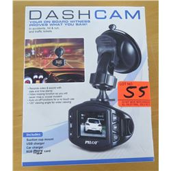 New Pilot Dash Cam Mountable Camera w/ Mount, USB & Car Charges CL-3005