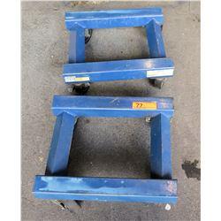 Qty 2 NAPA 1250 lb Capacity Wheeled Platform Dollies