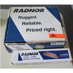 Radnor Pro 4000 Arc Gouging Torch & Copper Coated Gouging Electrodes
