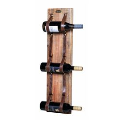 Leather Strap Wine Rack