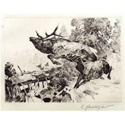 Stampede by Carl Rungius (1869-1959)