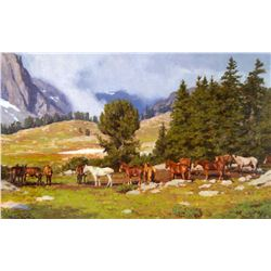 The Picket Line, Wind River Mountains by Tucker Smith (1940- )