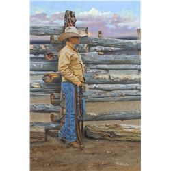 The Bronc Stomper by Mikel Donahue (1956- )