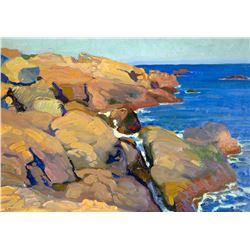 Untitled (Coastal Scene) by E. Martin Hennings (1886-1956)