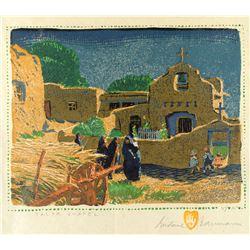 Talpa Chapel by Gustave Baumann (1881-1971)
