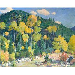 Aspens, Amizette, Hondo Canyon, Near Taos by Joseph Henry Sharp (1859-1953)
