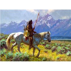 Lone Crow by Martin Grelle (1954- )