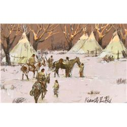Untitled (Tipis) by Kenneth Riley (1919-2015)