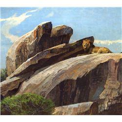 On the Rocks by Bob Kuhn (1920-2007)