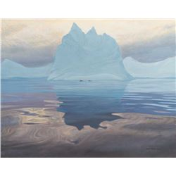 Antarctic Evening - Humpback Whales by Robert Bateman (1930- )