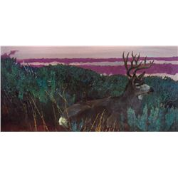 Bedded Buck by Bob Kuhn (1920-2007)