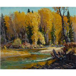 Autumn Sentinels by Conrad Schwiering (1916-1986)