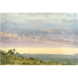 Western Landscape by Albert Bierstadt (1830-1902)