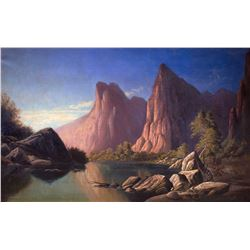 Rio Virgen - Southern Utah by Alfred William Lambourne (1850-1926)