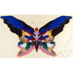 Blue Butterfly by Albert Bierstadt (1830-1902)