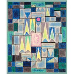 City Structures by Emil Bisttram (1895-1976)