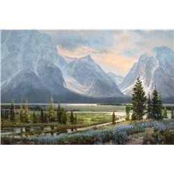 Jackson Lake by Jim Wilcox (1941- )
