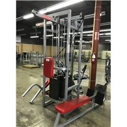 STAR TRAC UNIVERSAL COMMERCIAL CABLE PULL GYM MACHINE WITH ACCESSORIES